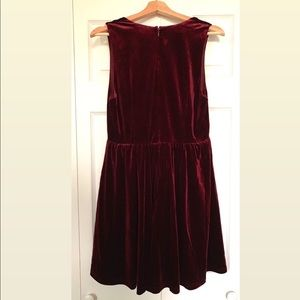 Lucca Couture Dresses - Lucca Burgundy Velvet Party Dress